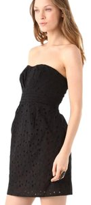 BB Dakota Eyelet Lace Strapless Sweetheart Dress
