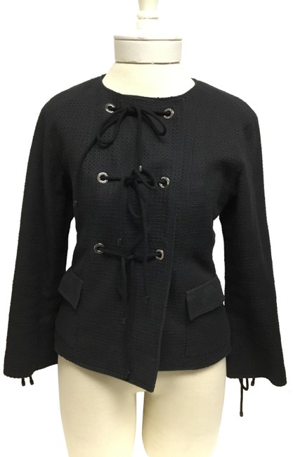 Item - Navy Nautical with Tie Knot Front Closure Jacket Size 4 (S)