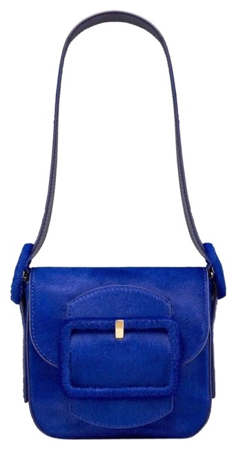 Item - Sawyer Mini Genuine Blue Calf Hair Shoulder Bag