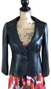 Cynthia Steffe black Leather Jacket