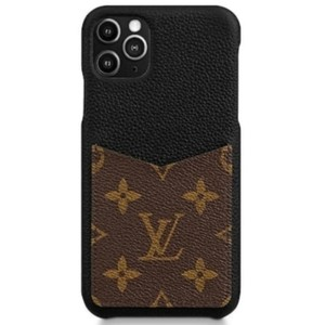 Louis Vuitton 11 Pro Max Black & Monogram Iphone Case Bumper