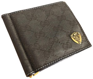 Gucci Gucci monogrammed wallet w/money clip