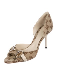Gucci Beige and Brown Pumps
