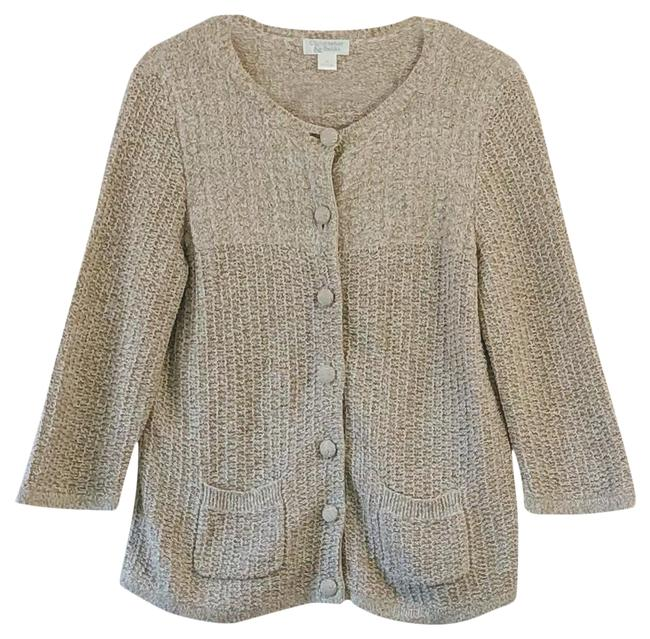 Item - Tan and White Cardigan Size 10 (M)