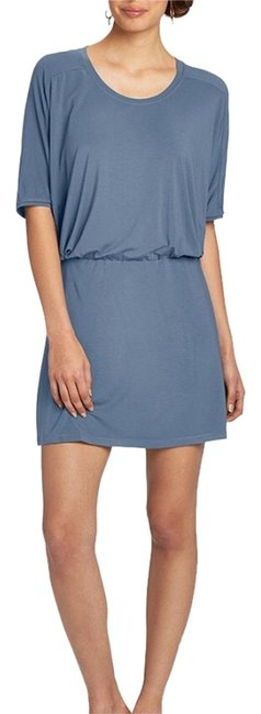 Nau short dress Blue Repose Travel Modal Jersey on Tradesy