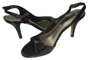 Nine West Patent Leather Brown Pumps
