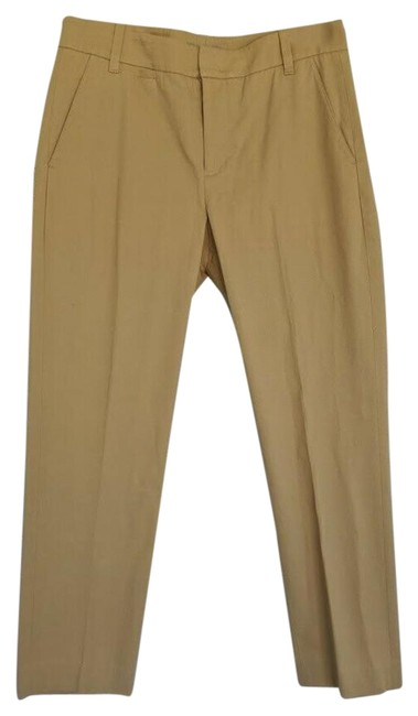 Item - Tan Straight Leg Cropped Chino Pants Capris Size 6 (S, 28)