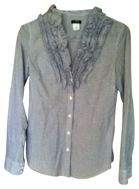 Preload https://item3.tradesy.com/images/jcrew-bluewhite-stripes-button-down-top-size-2-xs-2727157-0-0.jpg?width=400&height=650