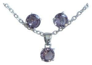 EFFY Gorgeous silver amethyst necklace and earrings set