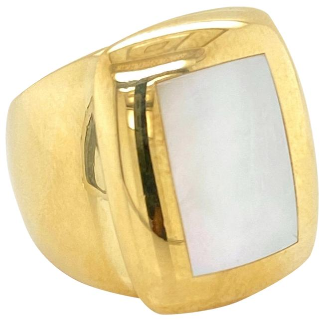 Item - 24561. Babylon Mother Of Pearl 18k Yellow Gold Ring