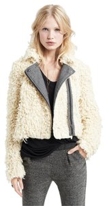 Free People Faux Moto Shaggy Fur Coat