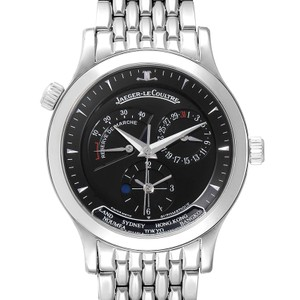 Jaeger-LeCoultre Jaeger Lecoultre Master Geographic Steel Mens Watch 142.8.92.S Q142817