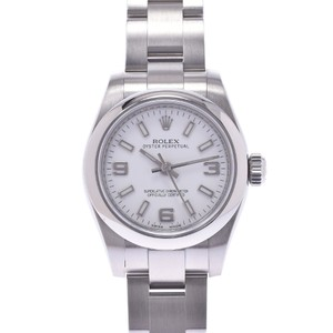 Rolex ROLEX Rolex Perpetual Roulette Engraved 176200 Ladies SS Watch Automatic White 369 Dial