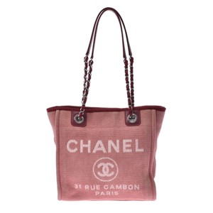 Chanel Tote in Red color