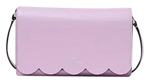 Kate Spade Scalloped Lavender Bundle Smooth Leather Cross Body Bag