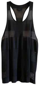 Rag & Bone Detail Sleeveless Sheer Top dark gray