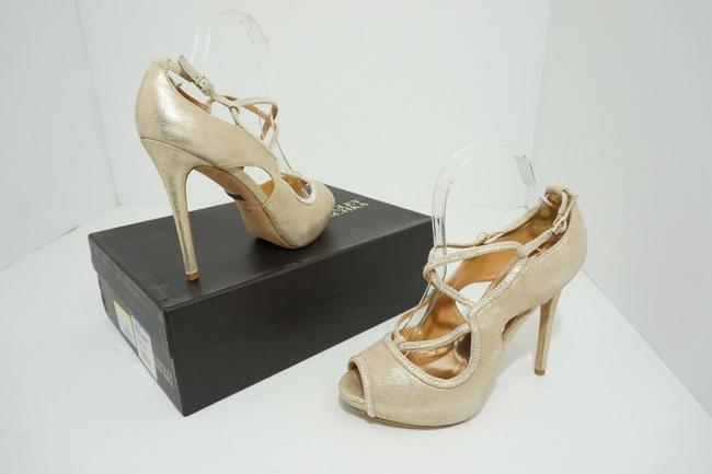 Item - Gold Platino Metallic Suede Women's Suede Dressy Heel Pumps Size US 8.5 Regular (M, B)
