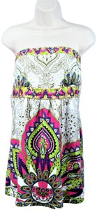 Joyous & Free Beaded Boho Bohemian Artsy Top Multi