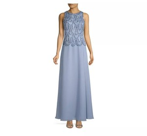JKara Dusty Blue Polyester Embellished Evening Gown In Bnwts 8 10 12 14 18 Available. Message Me For Formal Bridesmaid/Mob Dress Size 16 (XL, Plus 0x)
