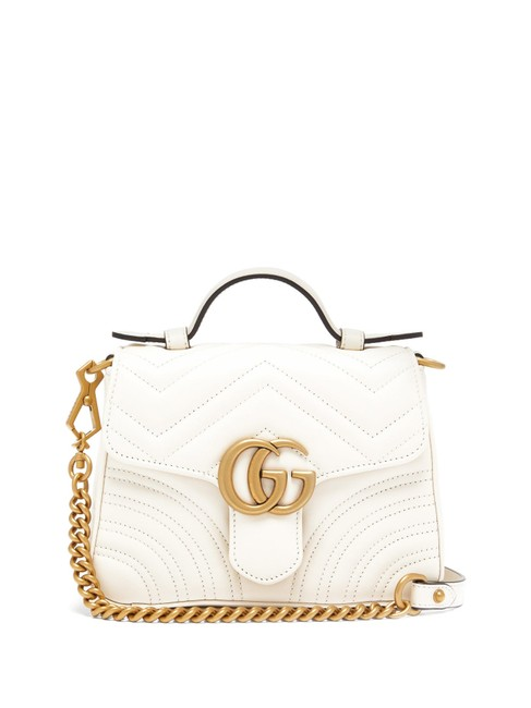 Item - Crossbody Marmont Mf Gg Small Quilted White Leather Shoulder Bag