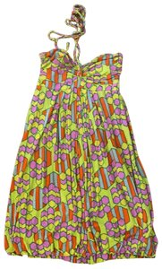 T-Bags Los Angeles short dress Orange Green Pink Multi on Tradesy