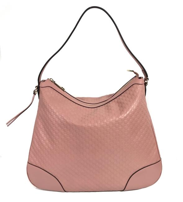 Item - Shoulder New 449244 Microguccissima Pink Leather Hobo Bag