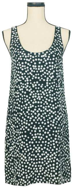 French Connection Black White Drape Sleeveless Floral Short Cocktail Dress Size 6 (S) French Connection Black White Drape Sleeveless Floral Short Cocktail Dress Size 6 (S) Image 1