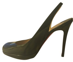 Christian Louboutin Leather Patent Patent Leather Black Pumps