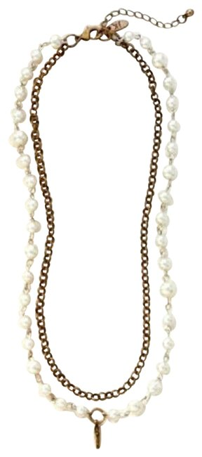 Item - Brass and Pearl Necklace