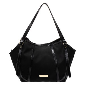Burberry Canvas Leather Tote in Black