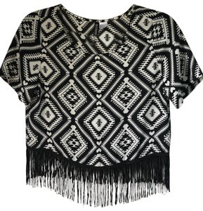 Divided by H&M Top Black/white