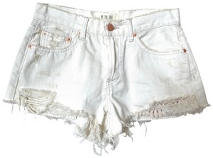 Free People Cut Off Shorts White