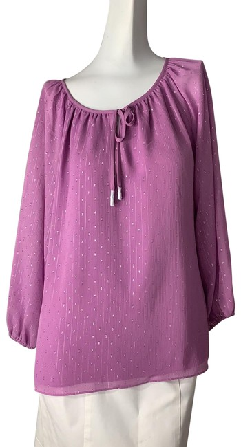 Item - Purple Silver Blouse Size 12 (L)