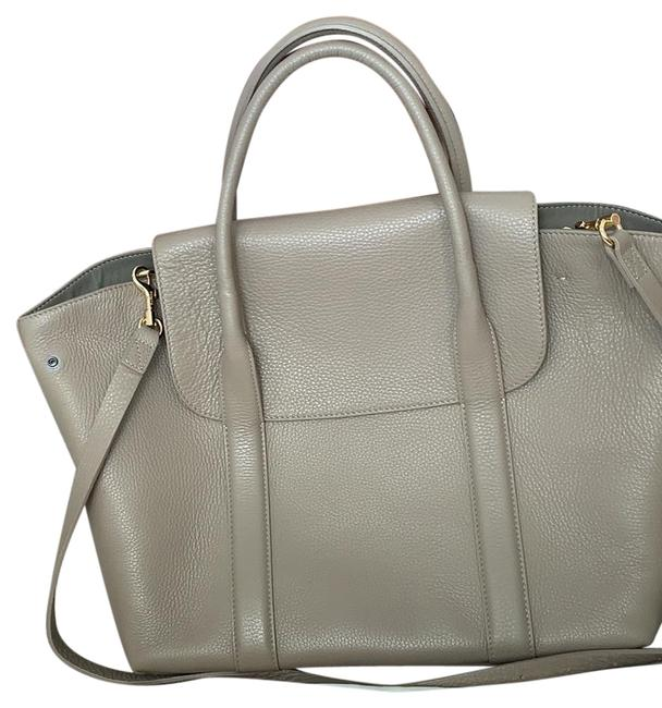 Item - Trapeze Grey Leather Satchel