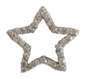 0 Degrees Real Diamond Star 18k White Gold
