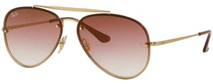 Ray-Ban Dark Red Gradient Mirrored Lens Rb3584n 91400t Unisex Aviator