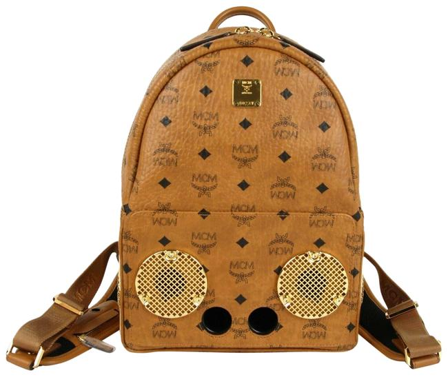 Item - Wizpak Small Mmk8aoc85co001 Cognac Brown Coated Canvas Backpack