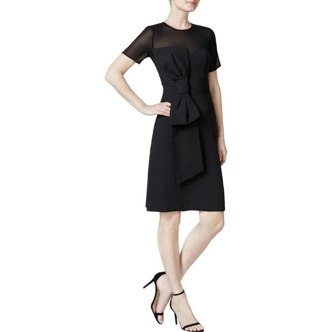 Item - Black Mesh Yoke Bow Mid-length Night Out Dress Size 2 (XS)