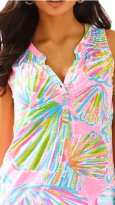 Lilly Pulitzer Top Pink, green, baby blue