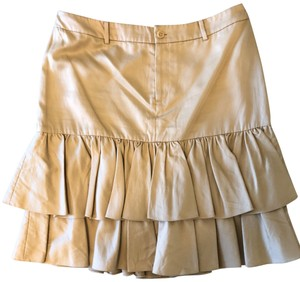 Ralph Lauren Collection Tieredskirt Equestrian Ruffle Skirt Tan