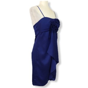 Max and Cleo Evening Adjustible Straps Royal Satin Dress