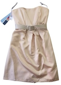 Alfred Angelo Style 7171 Color Bridesmaids Nude Strapless Dress