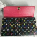 Louis Vuitton Multicolor Long Clutch Sarah Black Canvas Wallet Louis Vuitton Multicolor Long Clutch Sarah Black Canvas Wallet Image 10