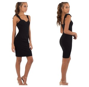 Black Halo Special Occasion Sheath Sexy Tailored Dress