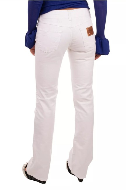 Item - White Distressed Cool Bootleg Boot Cut Jeans Size 25 (2, XS)