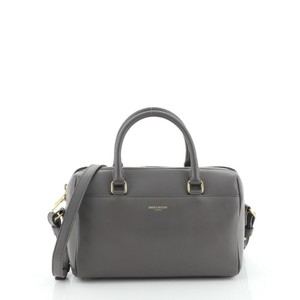 Saint Laurent Duffle Leather Tote in gray