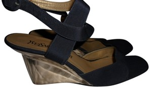Yves Saint Laurent Navy Sandals