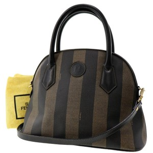 Fendi Vintage Alma Classic Canvas Shoulder Bag