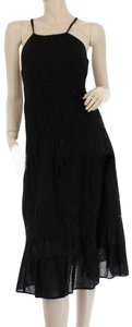 Black Maxi Dress by Free People Cotton Sundress