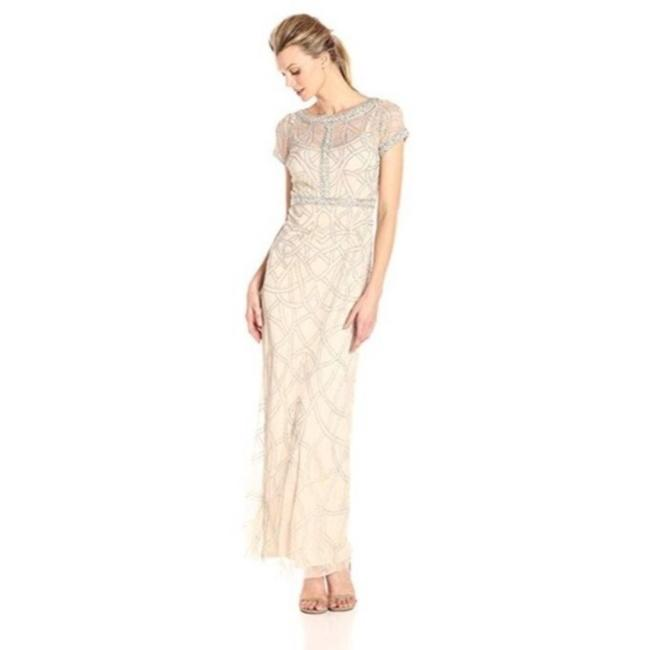 Item - Gold Champagne Bead Pearl Long Formal Dress Size 2 (XS)